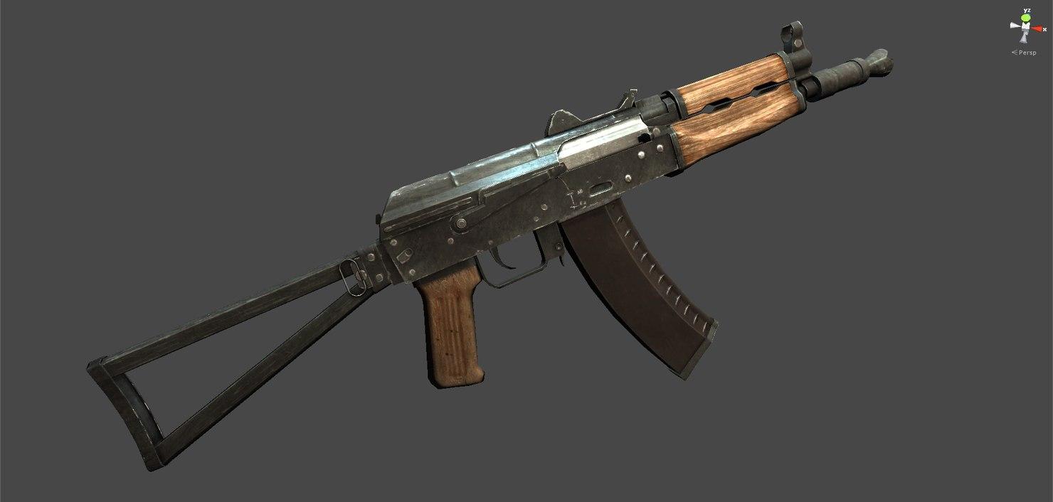 AK-74u 3D model