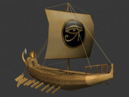 Ancient egyptian ship