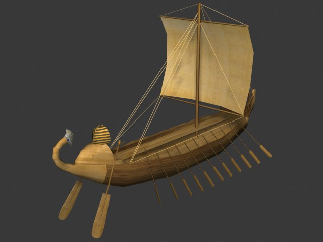 Ancient egyptian ship 3D model