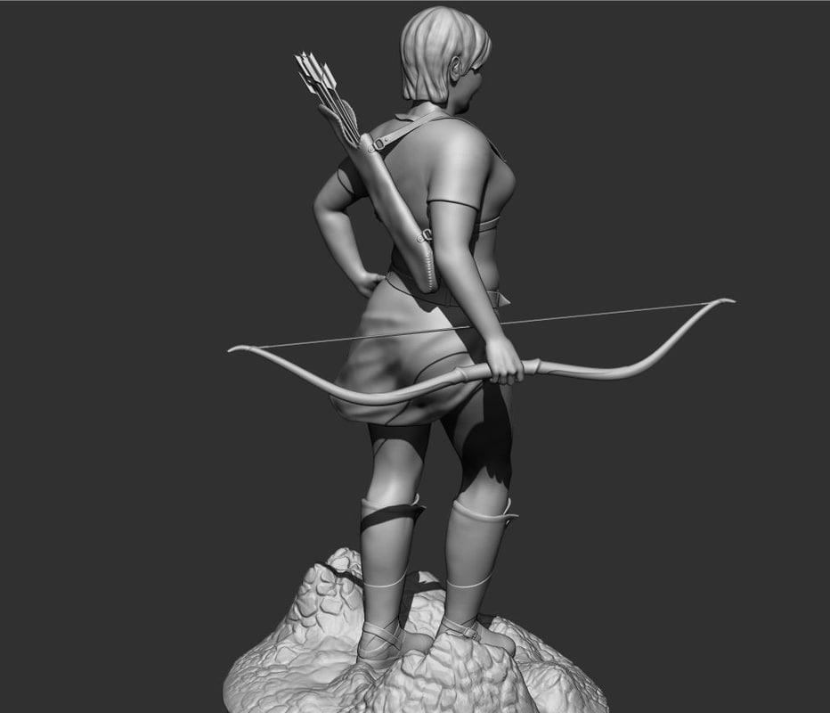 Archer girl 3D model