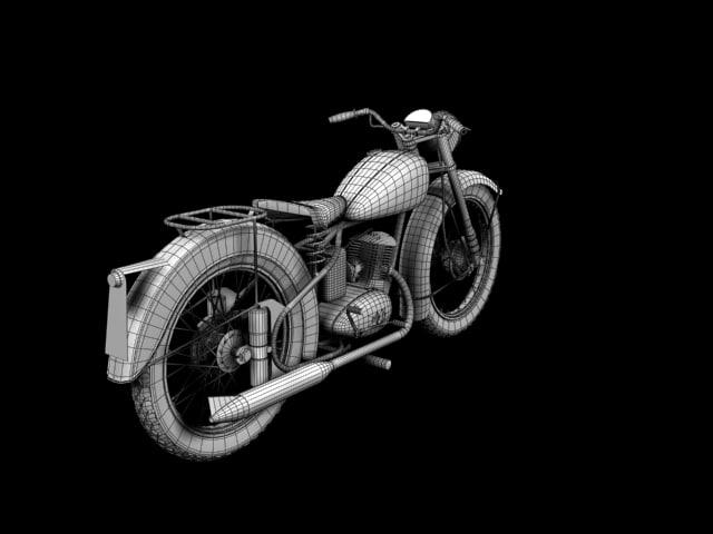 BSA Bantam D1 1948 3D model