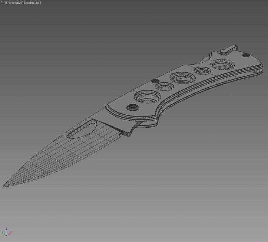 Boker Knife Black Rainbow 3D model