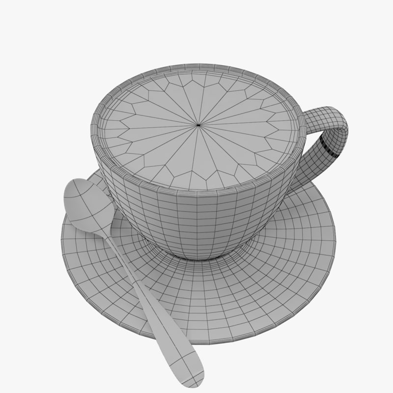 Cappuccino coffee cup 3D model