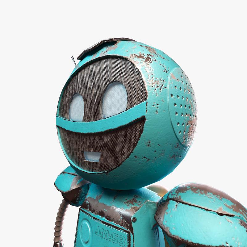Cartoon robot 3D model