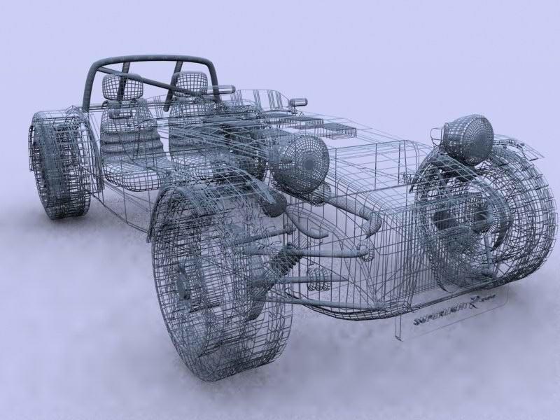 Caterham R300 Super seven 3D model