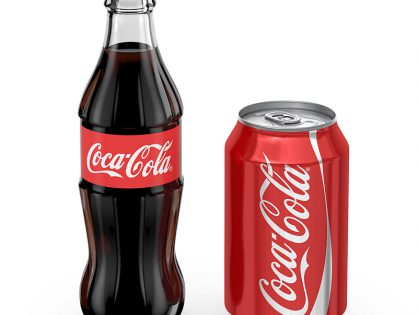 Coca-Cola Bottle and Can