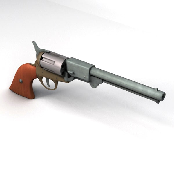 Confederate Pistol 3D model