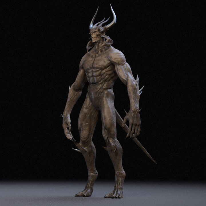Demon Rigged 3D model