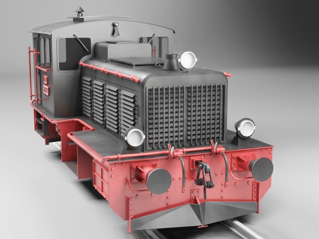 Diesel Locomotive Train LDM-12 3d model