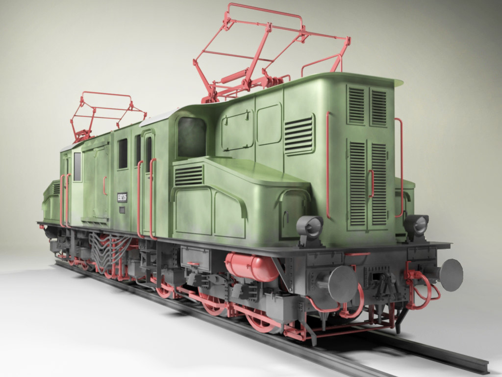 E92 Electric Locomotive 3d Model Download For Free
