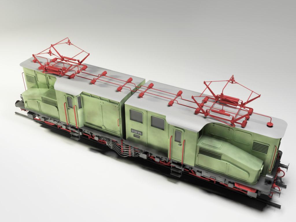 E92 Electric Locomotive 3D model