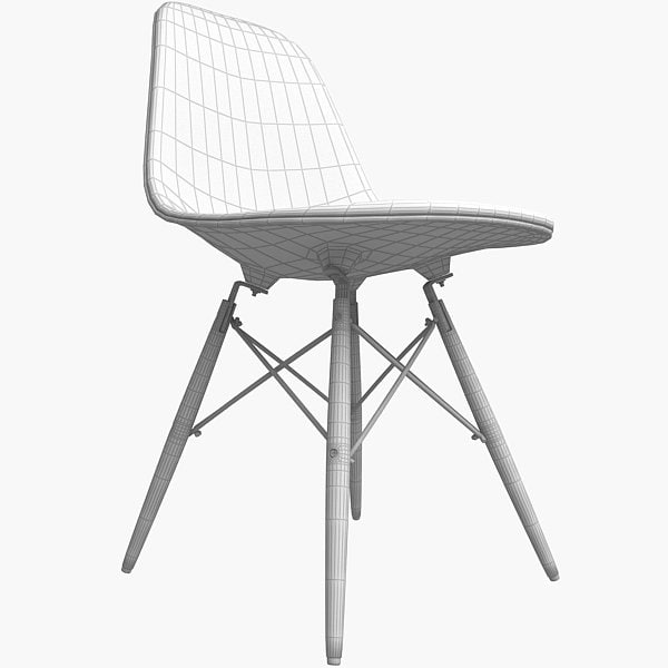Eames Chair Dsw 3D model