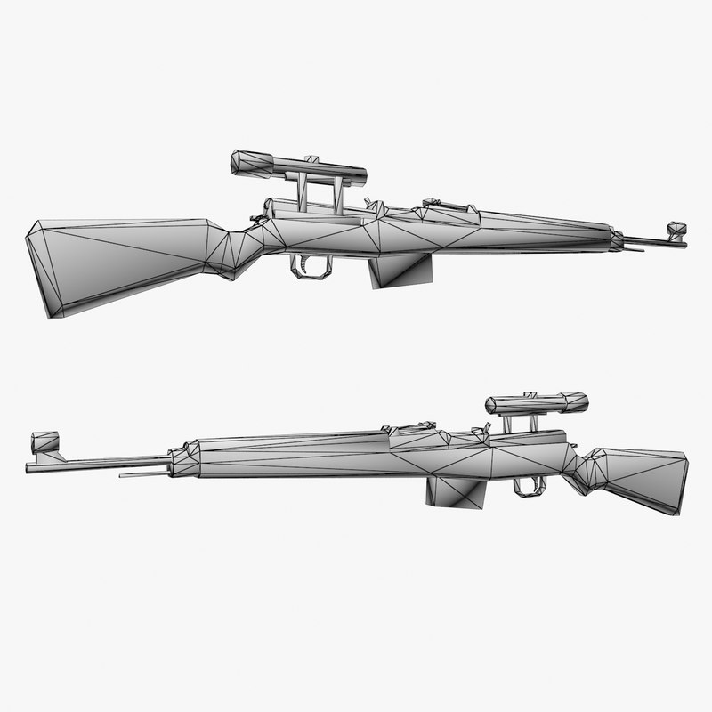 Gewehr 43 rifle 3D model