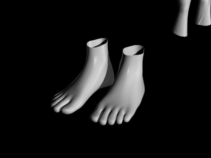 Simple Hands and Feet 3D model