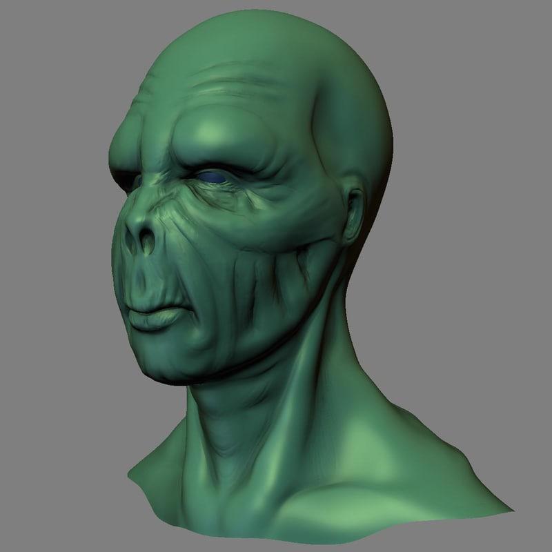 Head of Alien 3D model