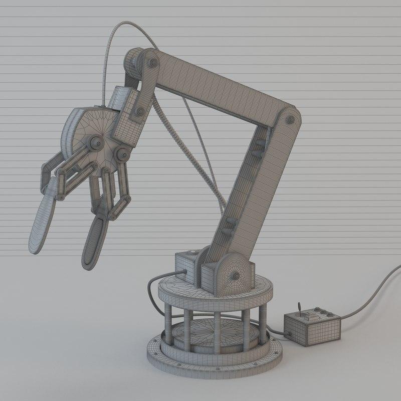 Industrial Robotic arm 3D model