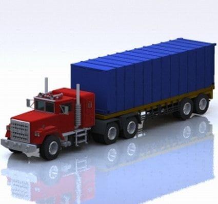 Industrial Semi Truck 3D model