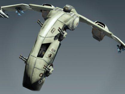 Sci Fi Jet  Lowpoly