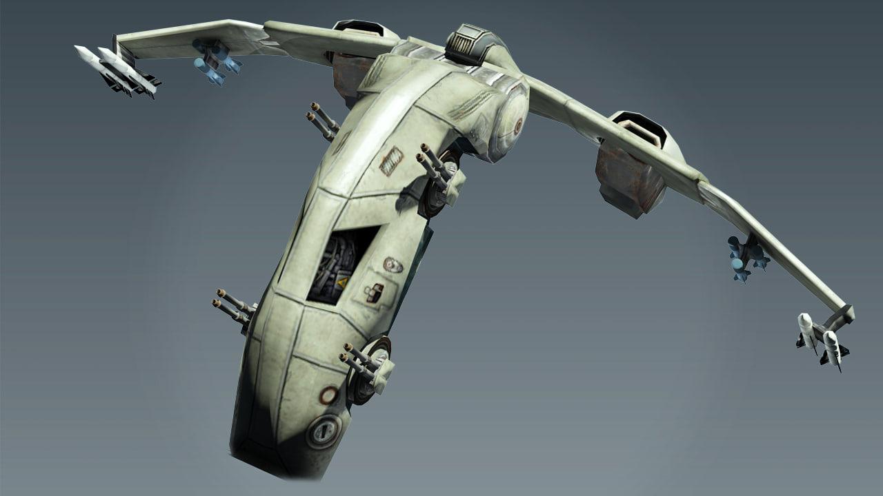 Sci Fi Jet Lowpoly 3D model