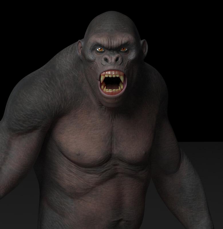 King Kong 3D model