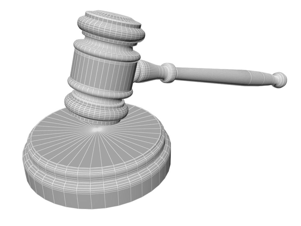 Law hammer 3D model