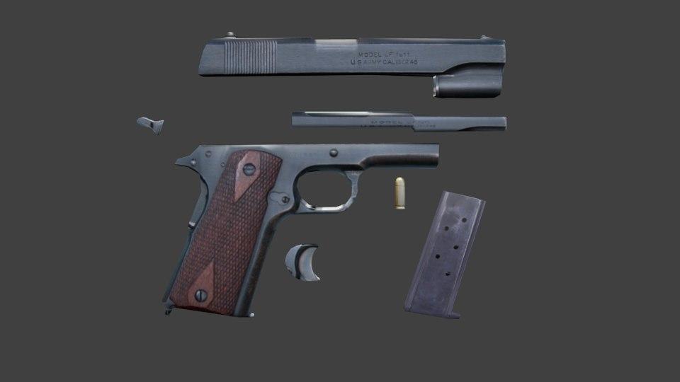 M1911 pistol 3D model