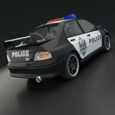 Mitsubishi Lanser Evo IX 3D model