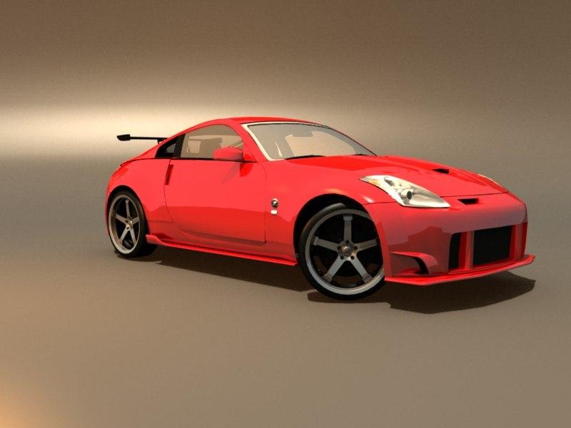 Nissan 350z 3D model