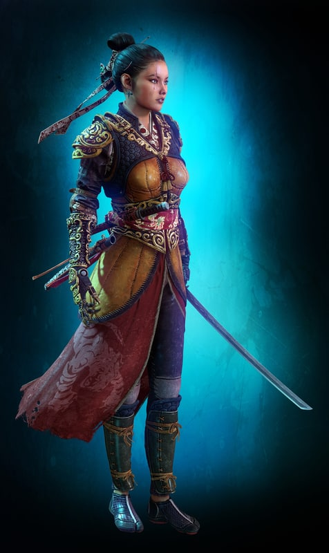 Woman warrior 3D model