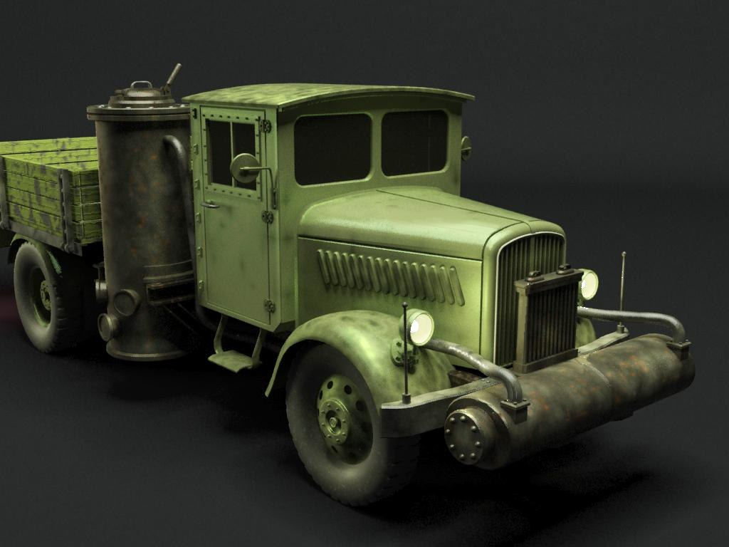 Opel Blitz Holzgas Truck 3D model