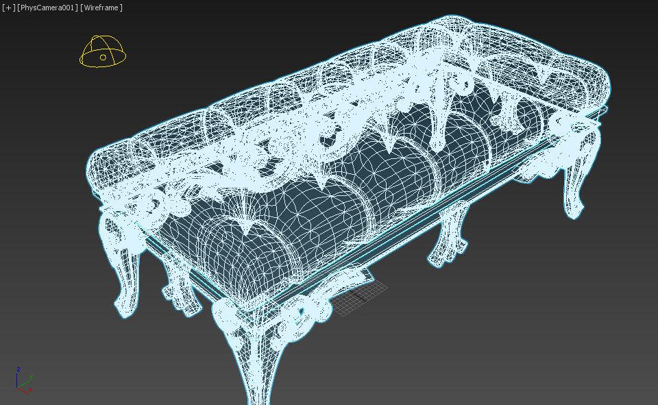 Roche bobois sofa 3D model