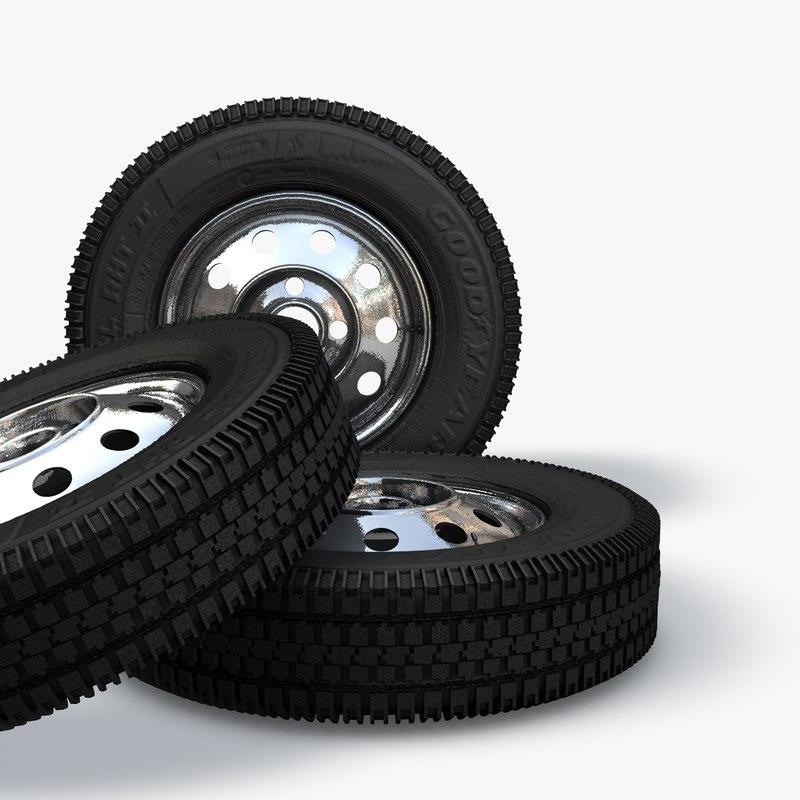 Russian car tires VAZ 3D model