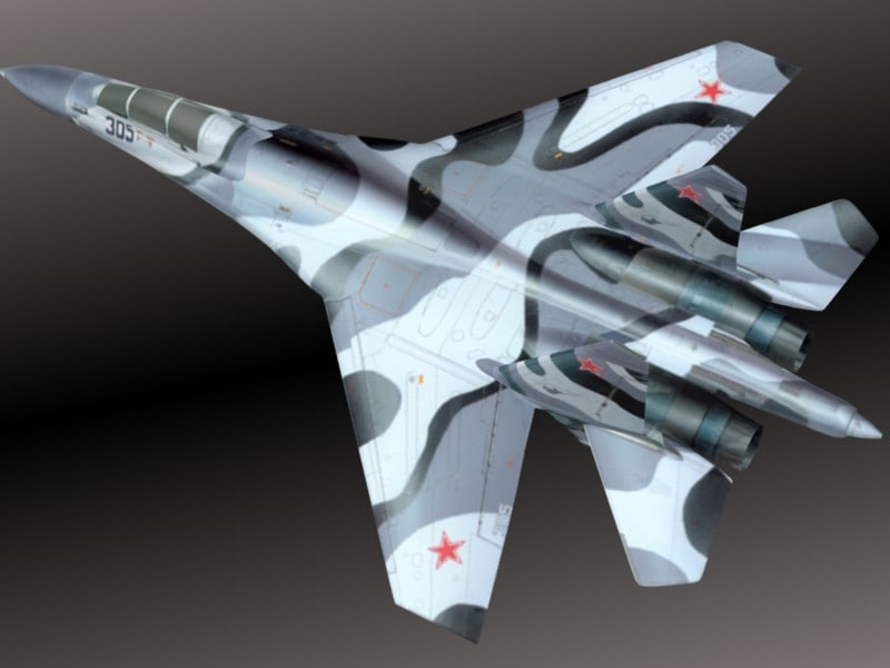 Sukhoi Su 27 3D model