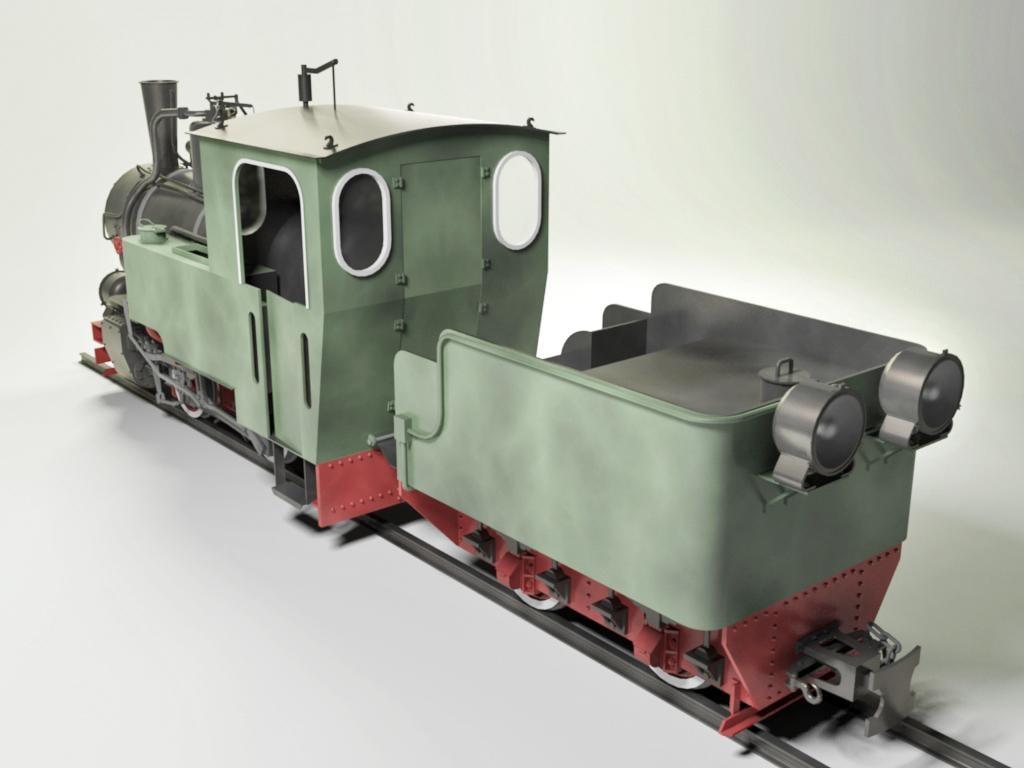 T2-71 Steam Locomotive 3D model