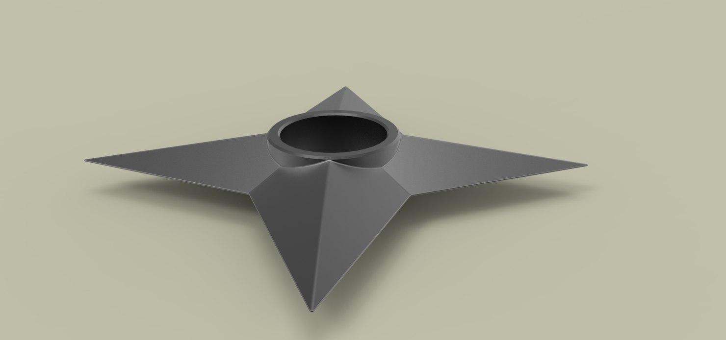 Throwing star 3D model