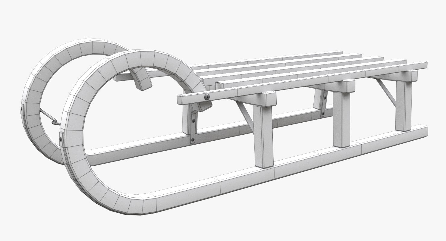 Toy Sled 3D model