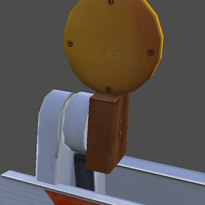 Traffic barrier 3D model