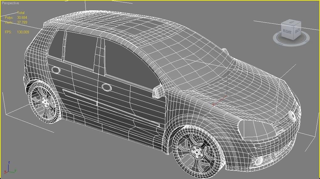 Volkswagen Golf 3D model