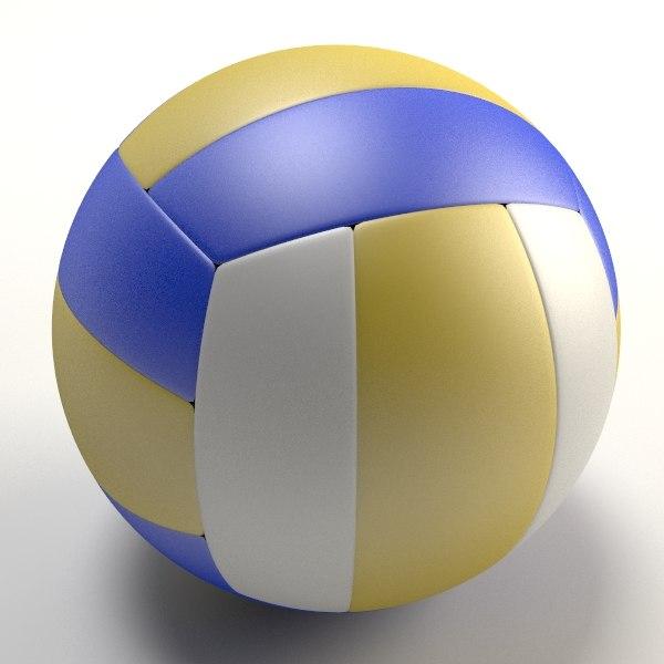 Volleyball ball 3D model
