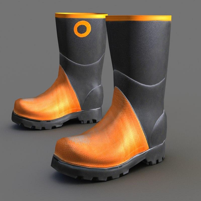 Workman Steelcap Rubber Boot 3D model