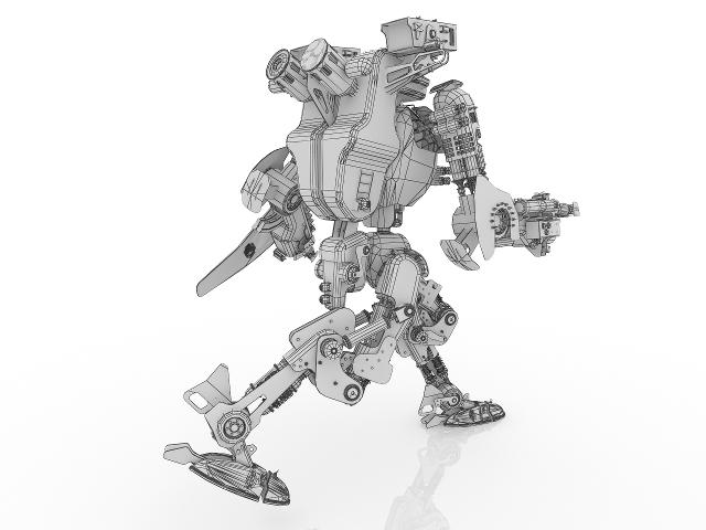 Сombat robot 3D model