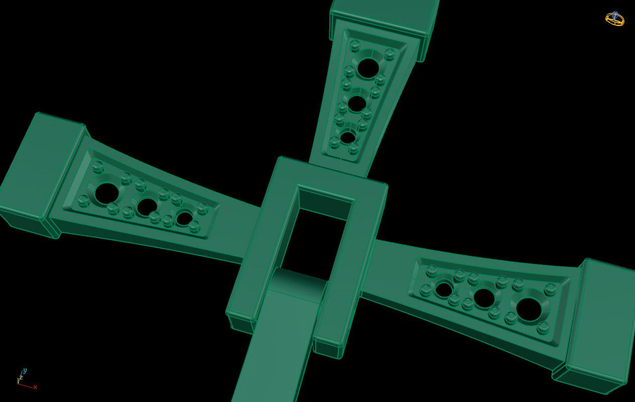Сross 3D model