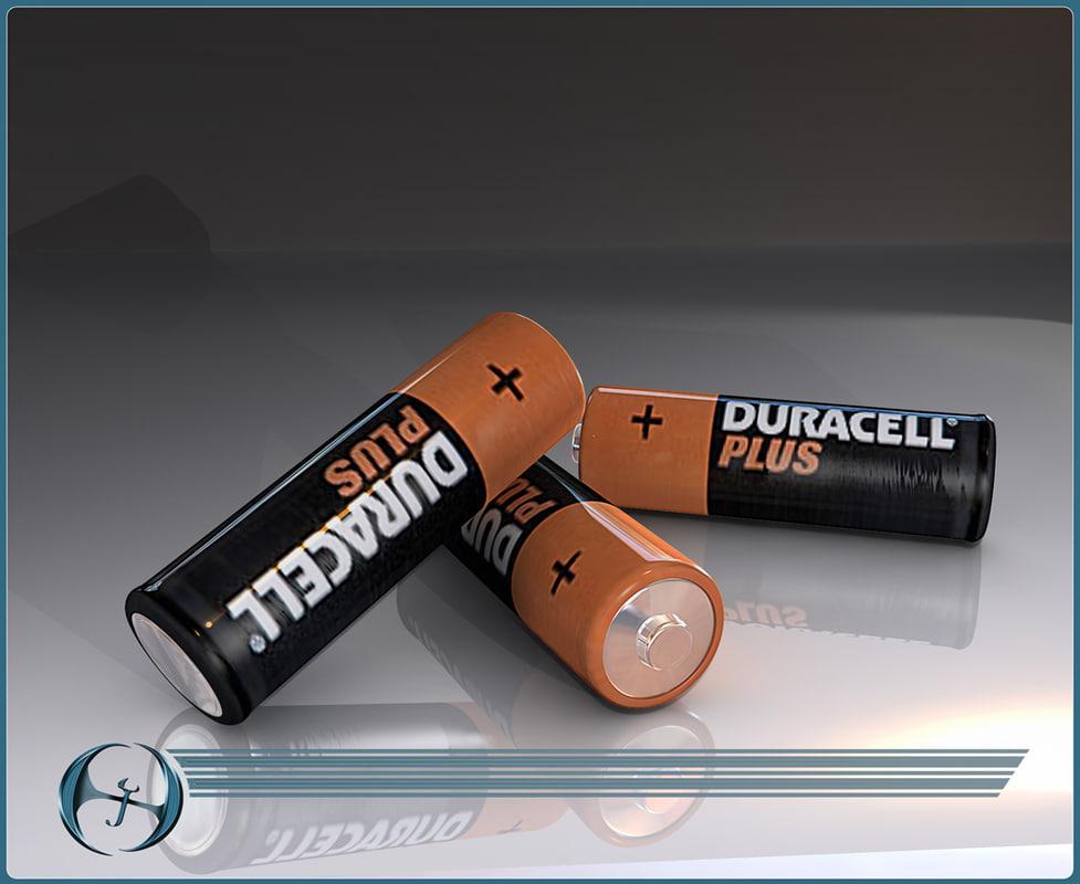 Batteries 3D model