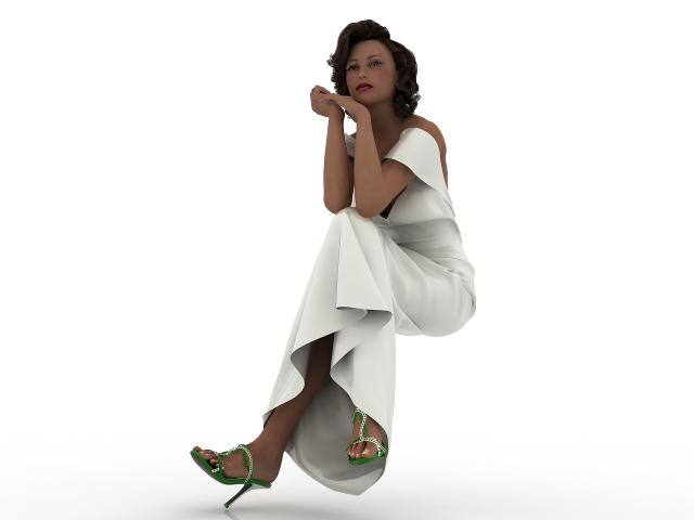 Beautiful woman 3D model