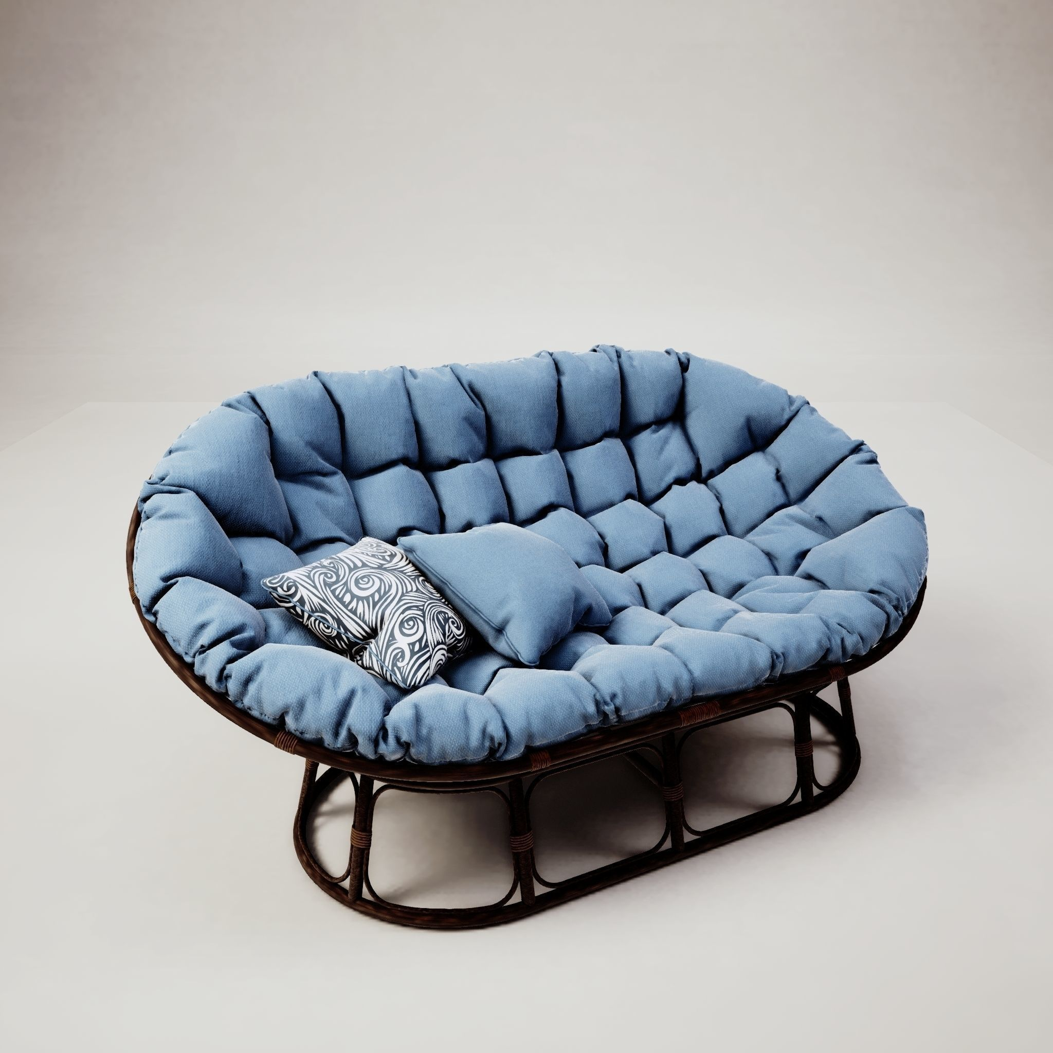 Blue Armchair 3D model