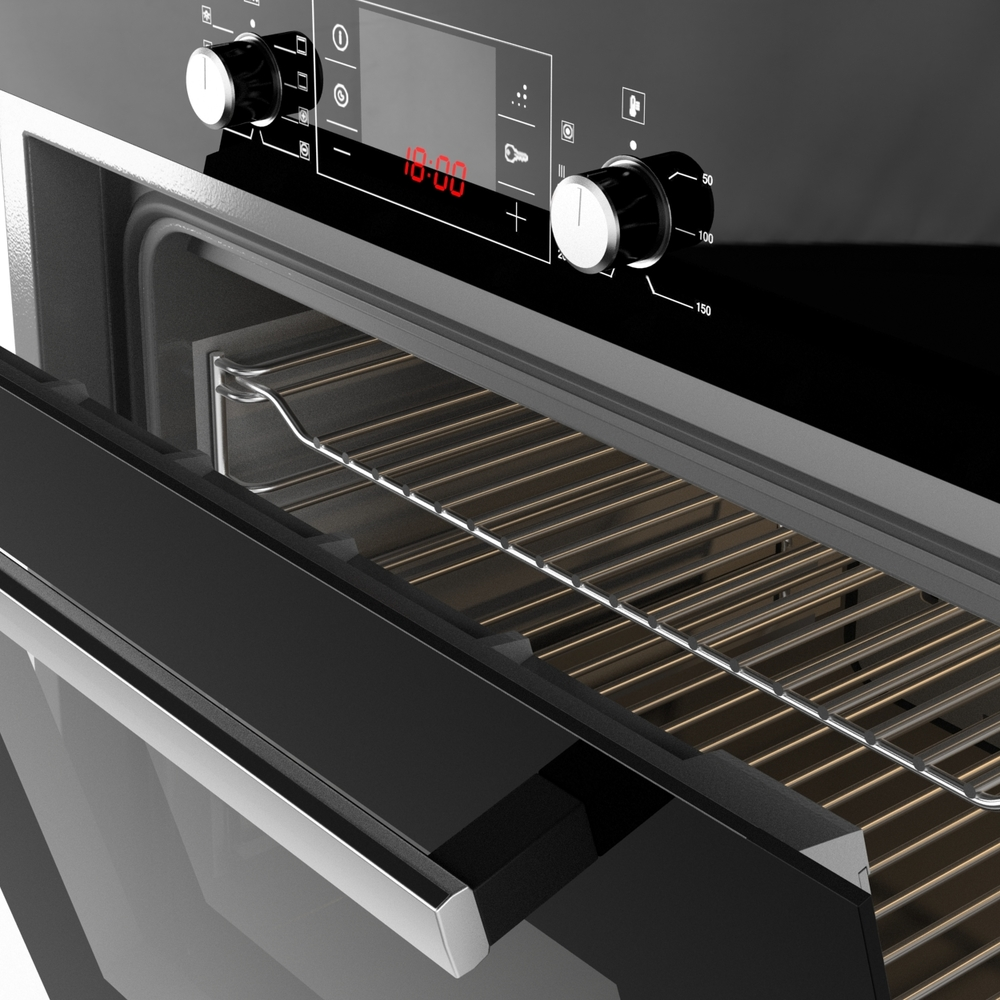 Bosch Built-in Oven 3D model Download for Free