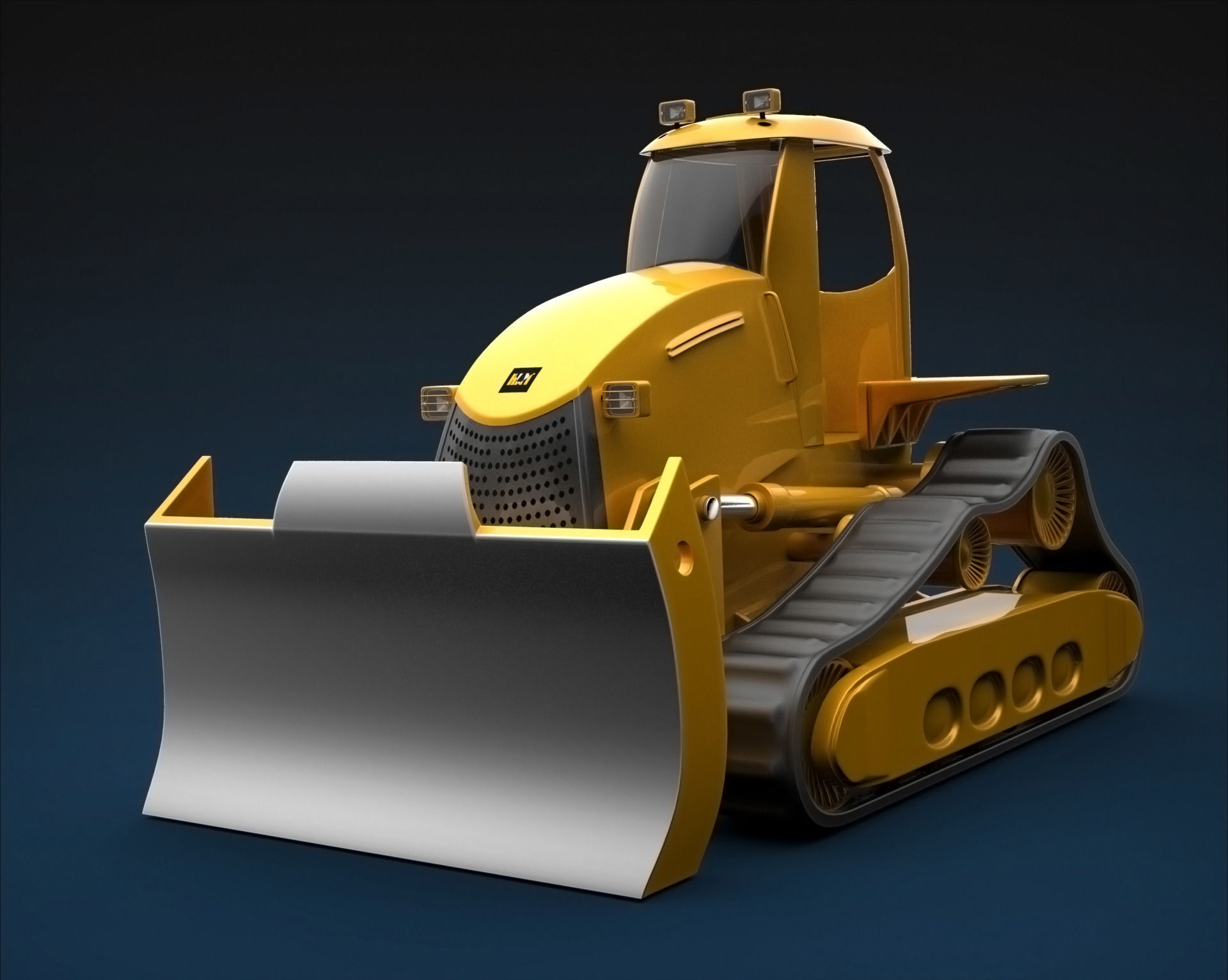 Cartoon Bulldozer 3D model