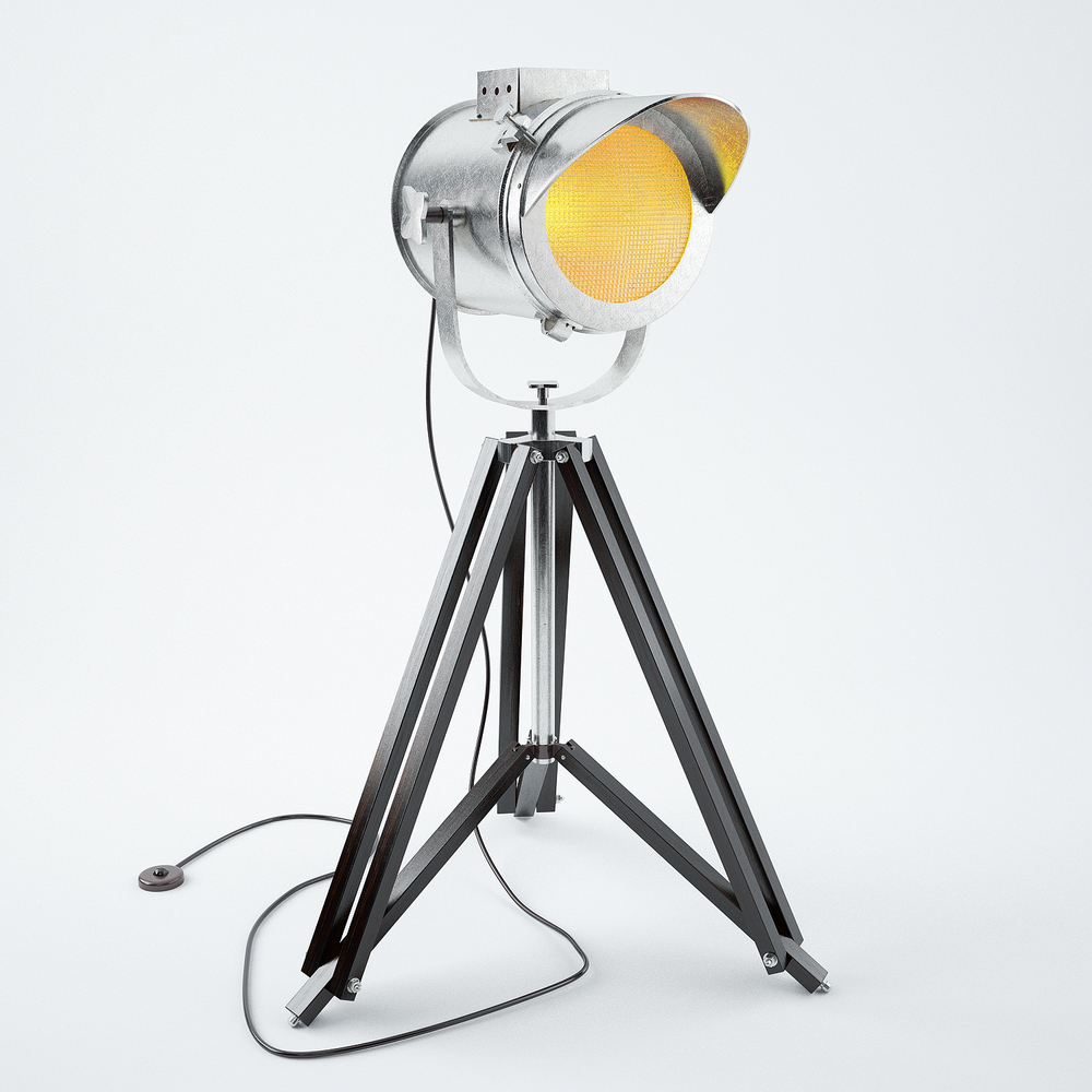 Cap Tripod Lamp 3D model