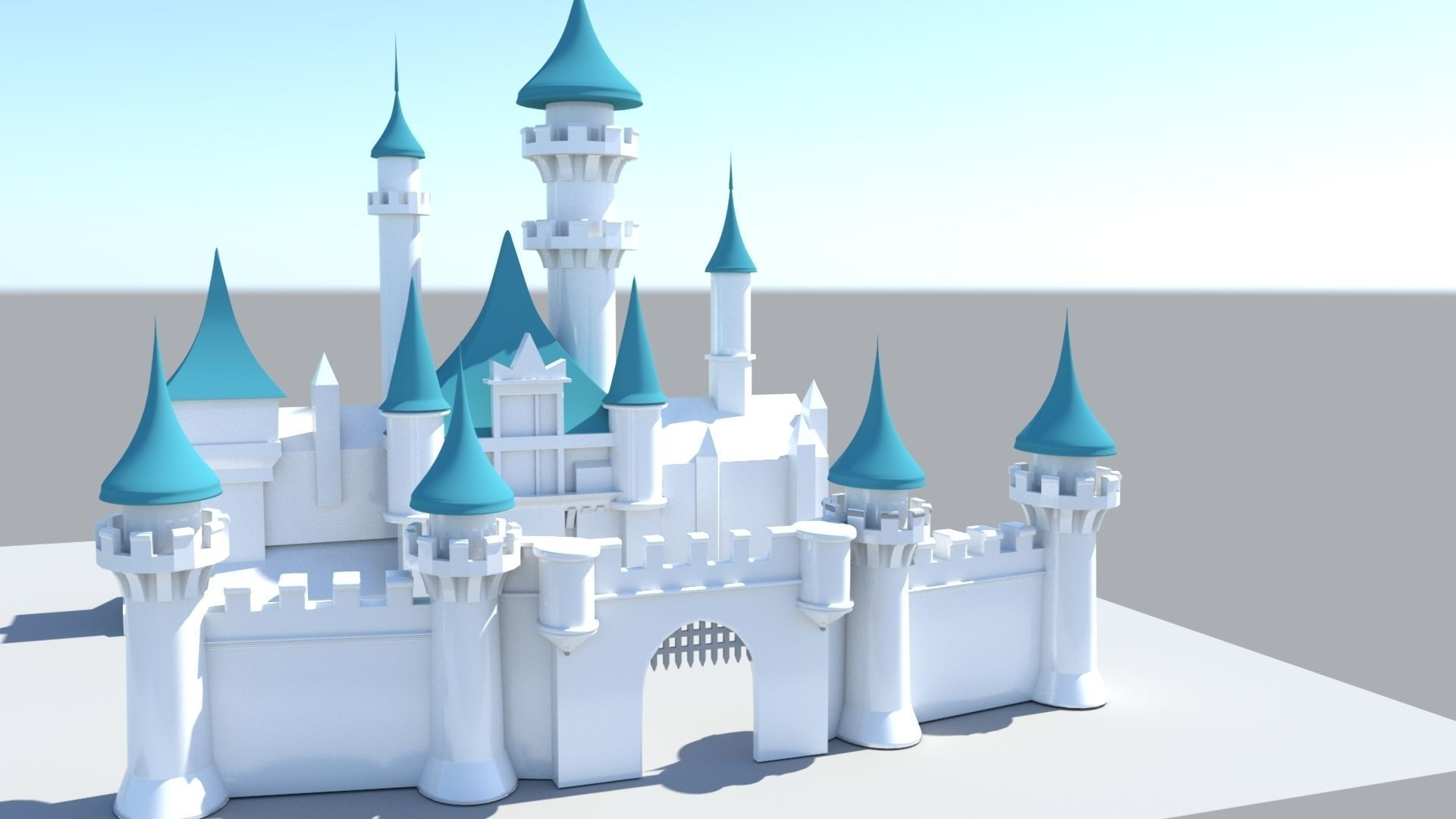 Disney Castle 3D model