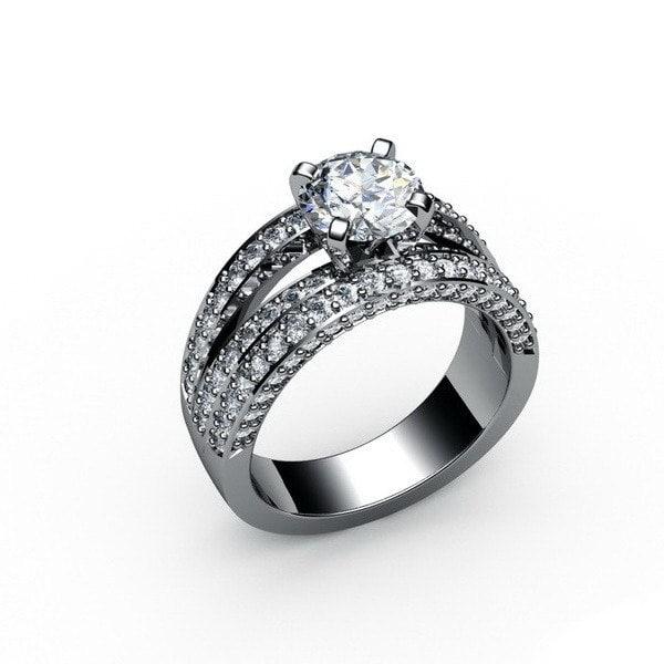 Diamonds ring 3D model
